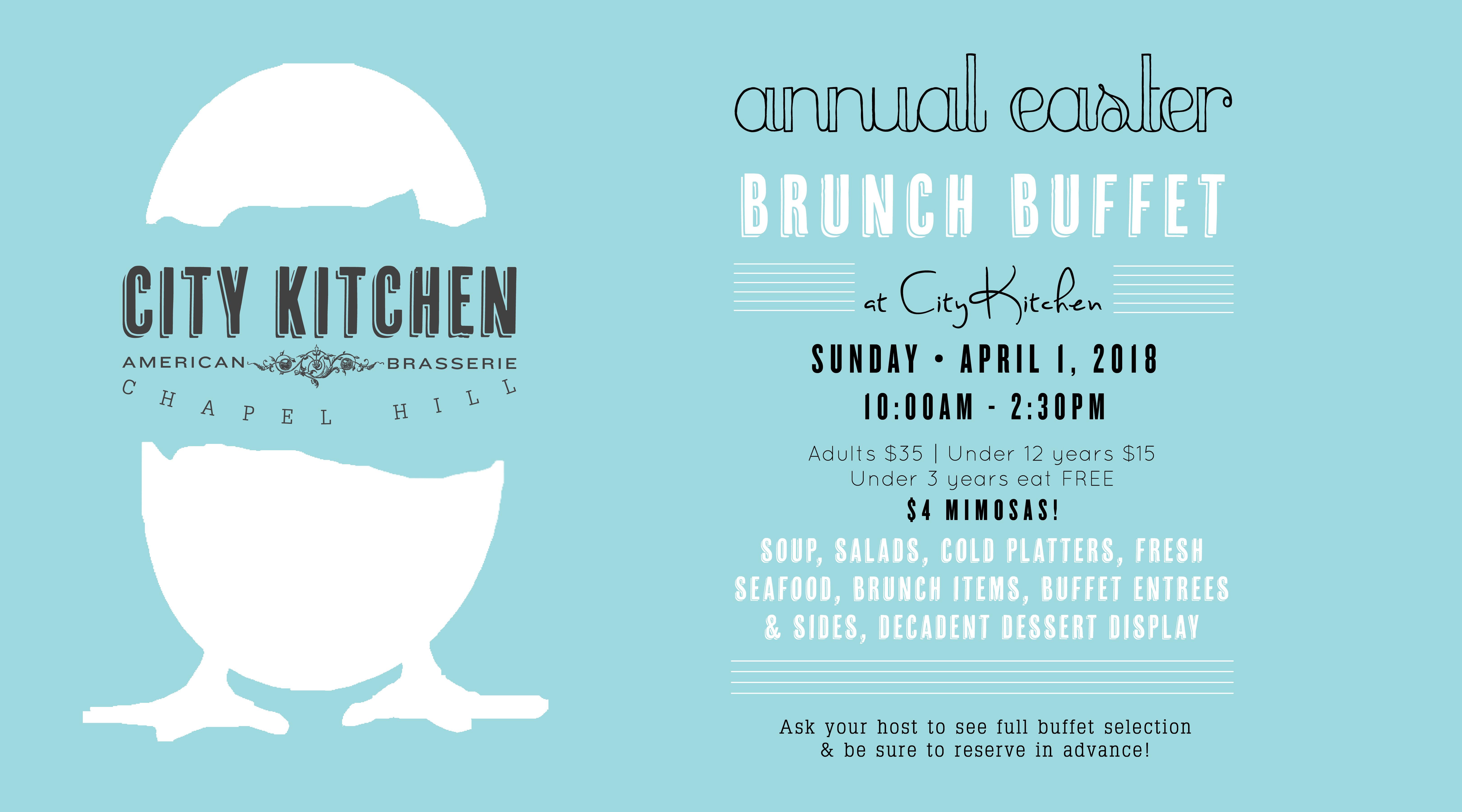 Magnificent Annual Easter Brunch Buffet City Kitchen Interior Design Ideas Lukepblogthenellocom